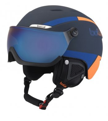 Шлем Bolle B-YOND VISOR Navy & Orange with Amber Blue visor Cat 2