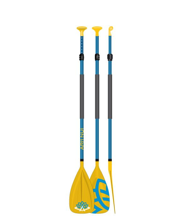 "Весло для САПборда ARI""INUI Polycarb Adjust Jr 170-220 blue/yellow"