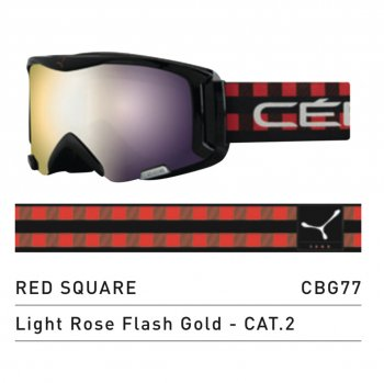 Маска CEBE SUPER BIONIC RED SQUARE LIGHT ROSE FLASH GOLD