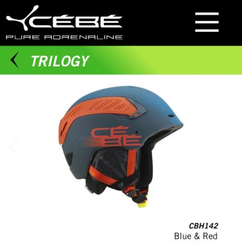 Шлем CEBE TRILOGY BLUE & RED