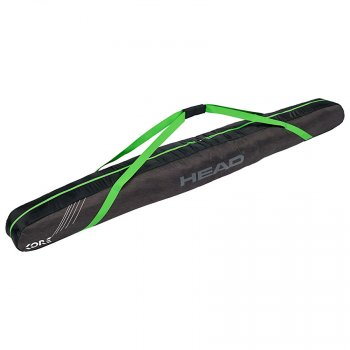 Чехол HEAD Freeride Single Skibag на 1 пару лыж, длина 205 см anthracite/neon green