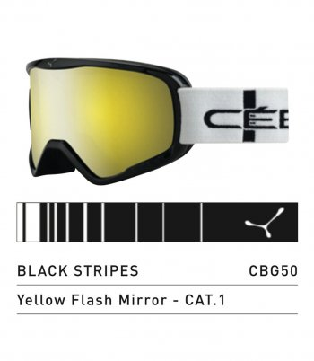 Маска CEBE STRIKER L BLACK STRIPES YELLOW FLASH MIRROR