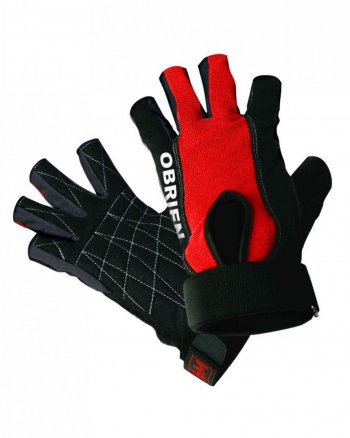 Гидроперчатки O'BRIEN Ski Skin 3/4 Blk/Red S18