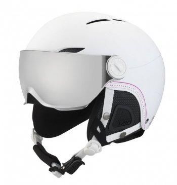 Шлем Bolle JULIET VISOR SOFT WHITE NORDIC WITH 1 SILVER GUN VISOR + 1 LEMON VISOR