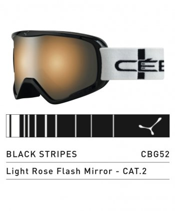 Маска CEBE STRIKER L BLACK STRIPES LIGHT ROSE FLASH MIRROR