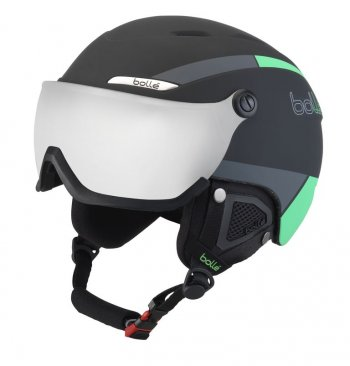 Шлем Bolle B-YOND VISOR Black & Green with Silver Gun visor Cat 3