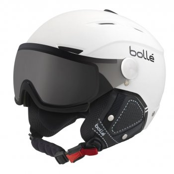 Шлем Bolle BACKLINE VISOR PREMIUM Soft White & Black with 1 Modulator Silver Visor